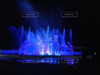 噴水ショーの写真・画像素材[3224696]