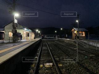 駅,夕暮れ,田舎,無人駅