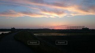 風景,屋外,雲,夕暮れ