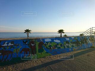 自然,海,空,ビーチ,アート,磯ノ浦
