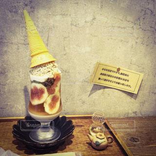 いちじくとアイスクリームの写真・画像素材[3602193]