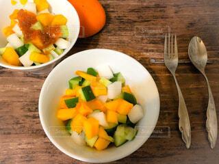 柿サラダの写真・画像素材[3900872]