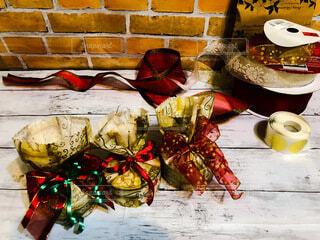 クリスマスラッピングの写真・画像素材[3937683]