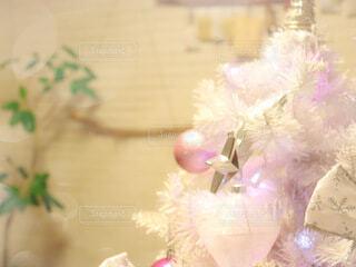 白いクリスマスツリーの写真・画像素材[3982462]