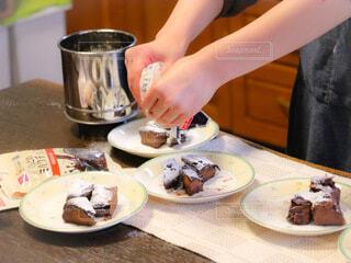 手作りチョコレート菓子の写真・画像素材[4140127]