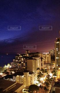 空,夜,夜景,屋外,ワイキキ,シェラトン,ハワイの夜景