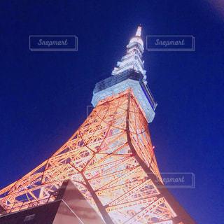東京タワーのクローズアップの写真・画像素材[3216147]