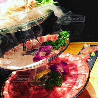 食べ物,ディナー,タワー,皿,肉,お肉,演出,牛肉握り,タンしゃぶ
