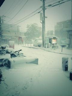 風景,冬,雪,雪景色,足跡,積雪,日中,初雪,辻堂,冷