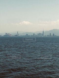 自然,風景,海,空,船,水面,福岡,福岡タワー,博多,おしゃれ,ペイペイドーム