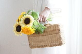 花を持つ手の写真・画像素材[3550310]