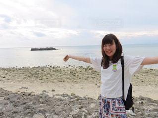 海,沖縄,笑顔