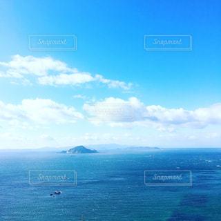 自然,風景,海,雲,青空,島,青,水平線,ブルー,blue