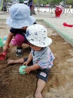 砂場遊びの写真・画像素材[3229112]