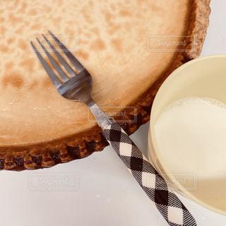 お家で手作りチーズケーキの写真・画像素材[3251743]