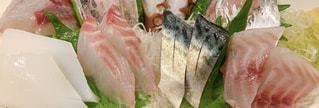 お刺身のクローズアップ レクタングルの写真・画像素材[3277530]