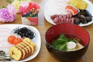 皿の上のお節料理の写真・画像素材[4028459]