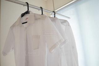 シャツを部屋干しするの写真・画像素材[4626986]