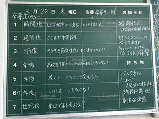 黒板看板に白い文字の写真・画像素材[1088218]
