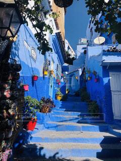 青の街の写真・画像素材[3230919]