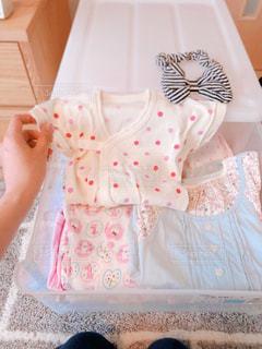 夏,日常,女の子,ドレス,洋服,赤ちゃん,生活,ロンパース,ライフスタイル,収納,衣替え,整理整頓,短肌着,夏生まれ