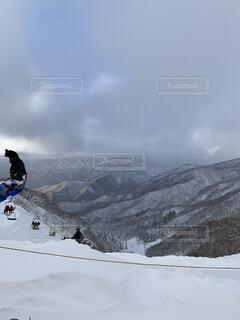 空,冬,雪,屋外,山,スキー,運動,斜面,ウィンタースポーツ