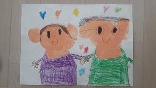 アート,ペン,絵画,おじいちゃん,おばあちゃん,紙,似顔絵,おえかき,祖父母,おうち時間,祖父母参観日