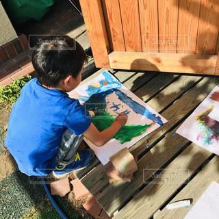 子ども,ペン,人,絵画,幼児,お絵描き,少年,恐竜,紙,おえかき,絵具,おうち時間