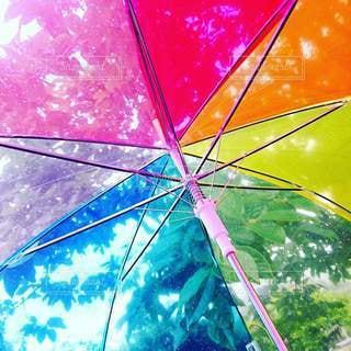 傘を閉じるの写真・画像素材[3337648]