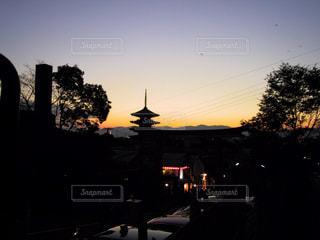 風景,夕日,京都,太陽,夕方,景色