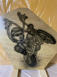 バイク,アート,おえかき,漫画,スケッチ,おうち時間