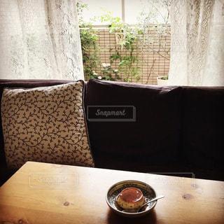 窓辺のおうちカフェの写真・画像素材[3283752]