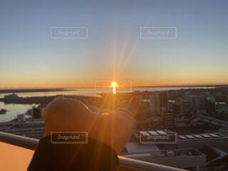 太陽,朝日,ベランダ,正月,お正月,日の出,新年,初日の出,みつ,空の写真,あははははははは〜(´Д` ),あははははははは〜,最高だな(´Д` )