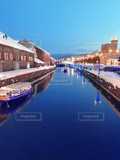 冬の運河の写真・画像素材[3290148]