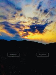空の雲のクローズアップの写真・画像素材[3306671]