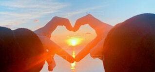 自然,空,屋外,朝日,雲,オレンジ,ハート,イベント,正月,お正月,日の出,新年,初日の出