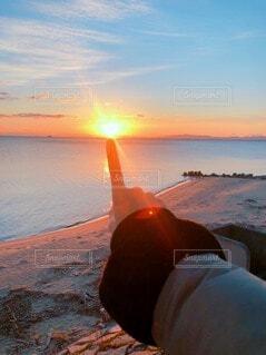 自然,空,屋外,太陽,朝日,ビーチ,雲,水面,海岸,オレンジ,イベント,正月,お正月,日の出,新年,初日の出