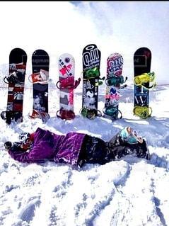 空,冬,雪,北海道,運動,スノーボード,仲間,板,ウィンタースポーツ,ステッカー,スポーツ用品