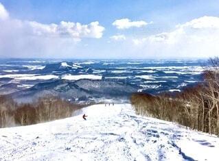 自然,空,冬,雪,屋外,雲,山,山頂,運動,高原,斜面,ウィンタースポーツ,日中