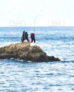 魚釣りの写真・画像素材[4373385]