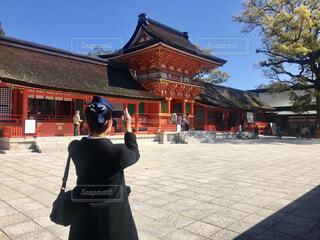 宇佐神宮へ。バスガイドさん。の写真・画像素材[4452817]