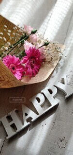 ピンク色の花束の写真・画像素材[4283464]