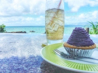海が見えるカフェの写真・画像素材[3489314]