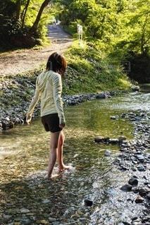 川遊びの写真・画像素材[3632152]