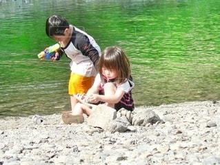 川遊びの写真・画像素材[3632622]