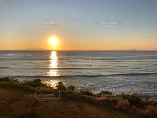 風景,海,太陽,朝日,正月,お正月,日の出,伊豆,新年,初日の出,初島,下田