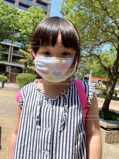 手作りマスクのあかりちゃんの写真・画像素材[3301945]