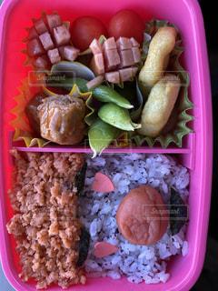 娘6歳のお弁当の写真・画像素材[3640193]