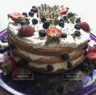 バースデーケーキの写真・画像素材[3982976]