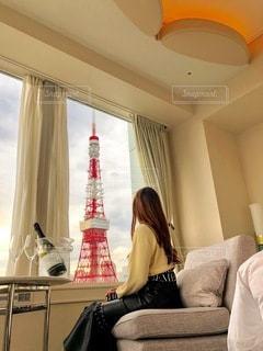 ホテルの部屋からの写真・画像素材[3293560]